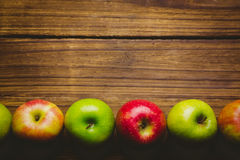 Fresh colorful apples Royalty Free Stock Photos