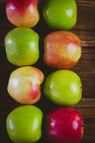 Fresh colorful apples Stock Photos