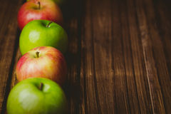 Fresh colorful apples Stock Image