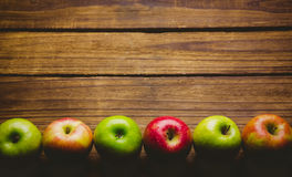 Fresh colorful apples Royalty Free Stock Photo
