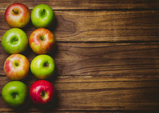 Fresh colorful apples Royalty Free Stock Images