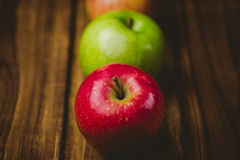 Fresh colorful apples Royalty Free Stock Photography