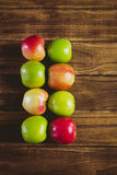 Fresh colorful apples Stock Photo