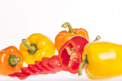 Fresh colorful bell peppers Royalty Free Stock Photo