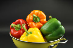 Fresh Colorful Bell peppers Stock Photo