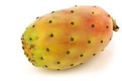 Fresh colorful cactus fruit. On a white background royalty free stock photo