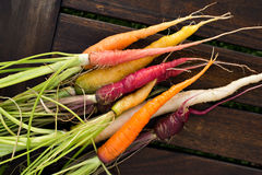 Fresh colorful carrots Royalty Free Stock Photos