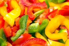 Fresh colorful cut bell peppers texture for background. Royalty Free Stock Photography