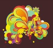 Fresh colorful design elements Stock Image