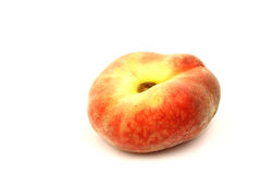 Fresh colorful flat peach (donut peach) Stock Photos