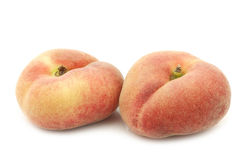Fresh colorful flat peaches donut peaches Royalty Free Stock Photo