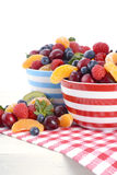 Fresh colorful fruit in breakfast bowls Royalty Free Stock Photo