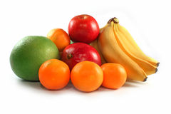 Fresh colorful fruits isolated Royalty Free Stock Image