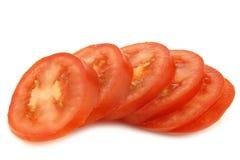 Fresh and colorful italian roma tomato slices Royalty Free Stock Photo