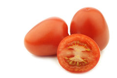 Fresh and colorful italian roma tomatoes Royalty Free Stock Image