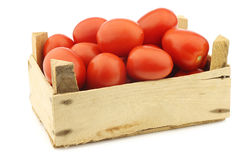 Fresh and colorful italian roma tomatoes Stock Images