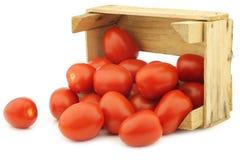 Fresh and colorful italian roma tomatoes Stock Image