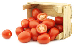 Fresh and colorful italian roma tomatoes Royalty Free Stock Images