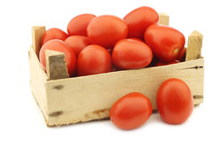 Fresh and colorful italian roma tomatoes Royalty Free Stock Photo
