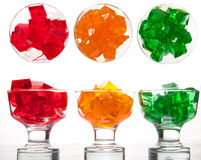 Fresh colorful jelly stock image