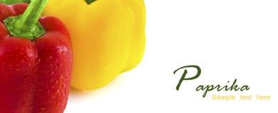 Fresh colorful paprika isolated on white background Royalty Free Stock Image