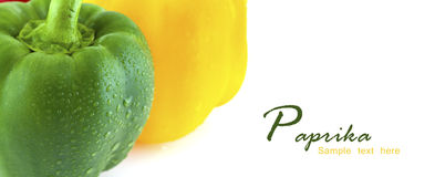 Fresh colorful paprika isolated on white background Stock Photos