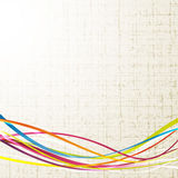 Fresh colorful rainbow wave line background Royalty Free Stock Images