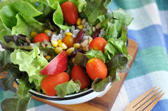 Fresh Colorful Salad Stock Photo