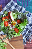 Fresh colorful salad bowl Royalty Free Stock Photos