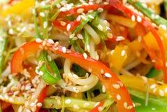Fresh colorful salad with sesame Stock Image