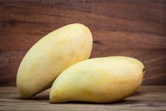 Fresh colorful tropical mangoes Royalty Free Stock Photo