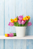 Fresh colorful tulip flowers bouquet Royalty Free Stock Photo