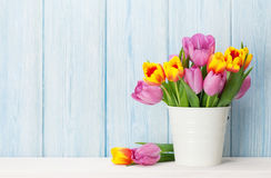 Fresh colorful tulip flowers bouquet Stock Image