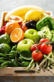 Fresh colorful vegetables and fruits Stock Photography