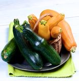 Fresh Colorful Zucchini Royalty Free Stock Photos
