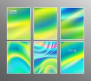 Fresh colors Holographic templates Stock Image
