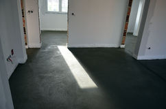 Fresh concreted room Royalty Free Stock Photos