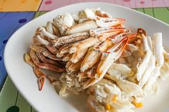 Fresh cooked crab meat seafood. Thailand stock photo