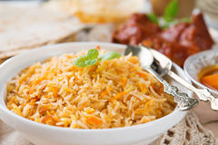 Fresh cooked Indian rice Royalty Free Stock Photo