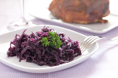 Fresh cooked red cabbage Royalty Free Stock Photo