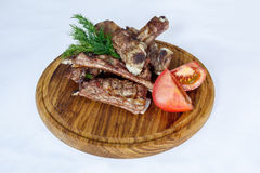Fresh cooked ribs with vegetables Stock Photography