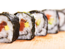 Fresh cooked rolls close-up Royalty Free Stock Images