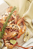 Fresh cooked seafood on a platter Royalty Free Stock Photography