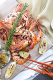 Fresh cooked seafood on a platter Stock Photo