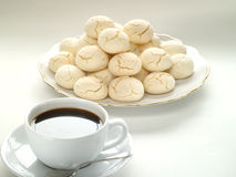 Fresh cookies and coffee Royalty Free Stock Images