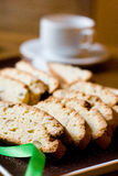 Fresh cookies and cup of tea Royalty Free Stock Photos
