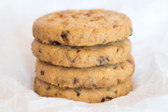 Fresh cookies on each other Stock Image