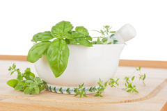 Fresh cooking herbs. stock images