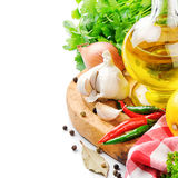 Fresh cooking ingredients royalty free stock images