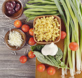 Fresh Cooking Ingredients Royalty Free Stock Photos